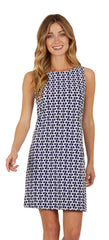 Jude Connally Beth Dress - Chain Link Navy