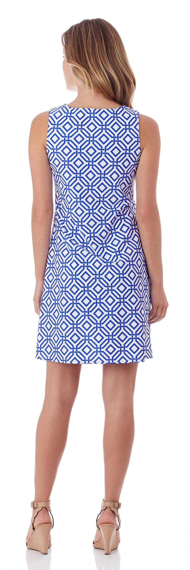 Jude Connally Beth Dress In Grand Links White Sapphire