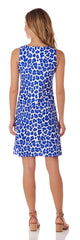 Jude Connally Beth Dress - Leopard Cobalt