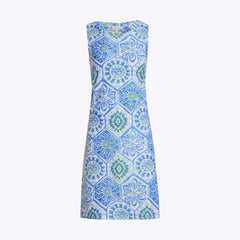 Jude Connally Beth Dress - Mosaic Tile Periwinkle