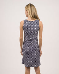 Jude Connally Beth Dress - Star Lattice Navy
