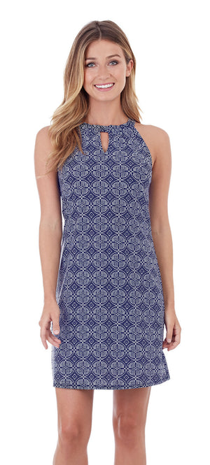 Jude Connally Lisa in Batik Medallion Navy