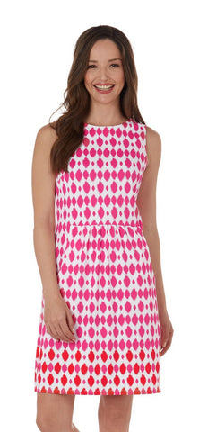 Jude Connally Mary Pat Dress In Circle Ikat Berry