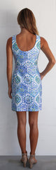 Jude Connally Mary Pat Dress - Mosaic Tile Periwinkle