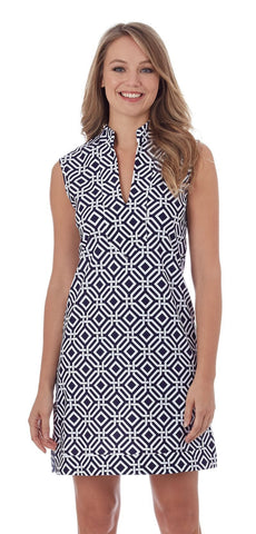 Jude Connally Kristen Dress In Grand Links Navy