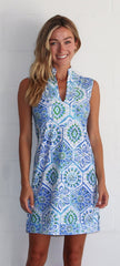 Jude Connally Kristen Dress - Mosaic Tile Periwinkle
