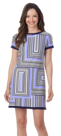 Sale - Jude Connally Parker Dress -  Box Stripe Navy