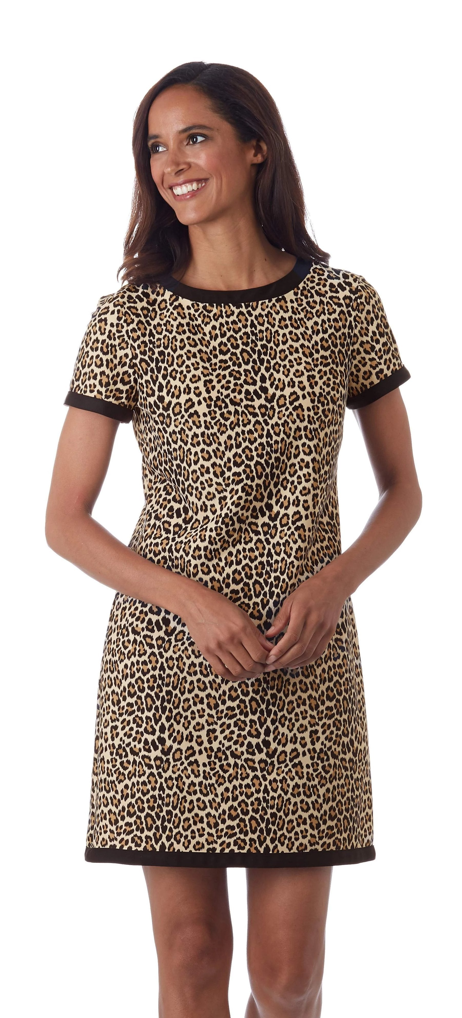 Jude Connally Parker Dress - Mini Leopard Camel