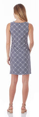 Jude Connally Beth Shift Dress in Grand Links Navy