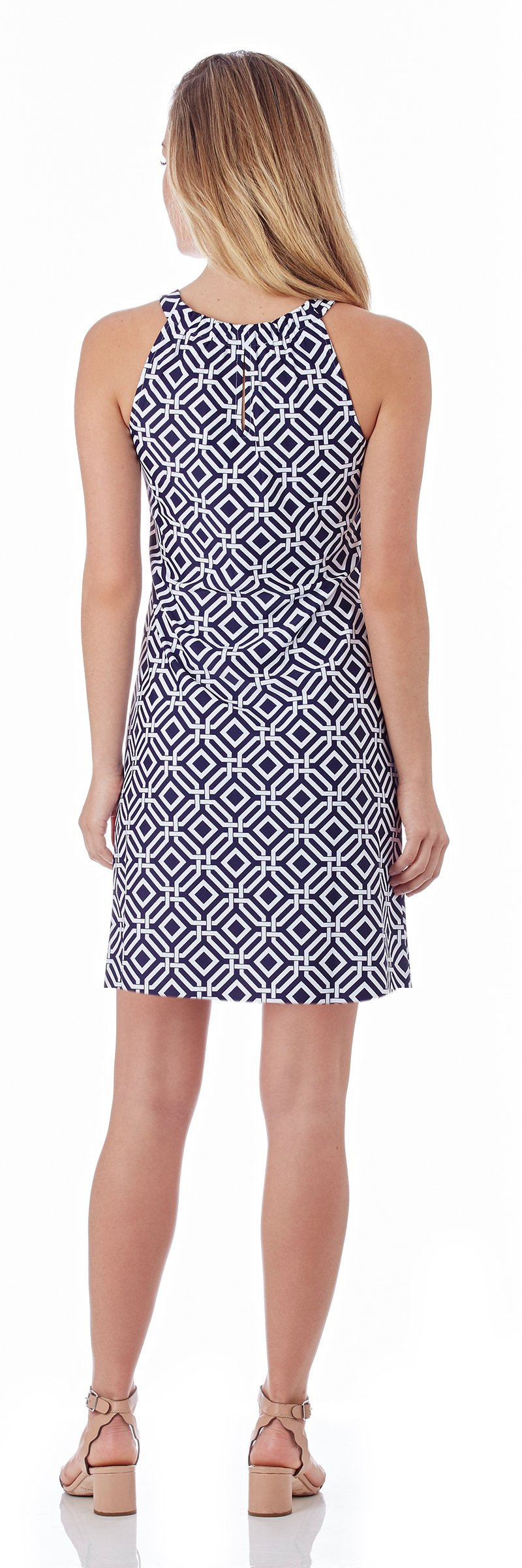 Jude Connally Lisa Dress In Grand Links Navy