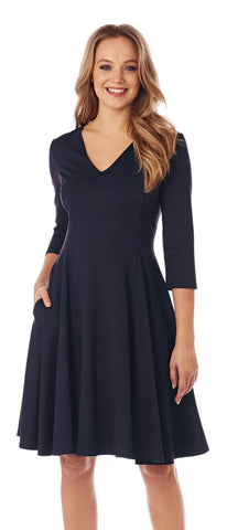 Jude Connally Lennox Dress - Dark Navy