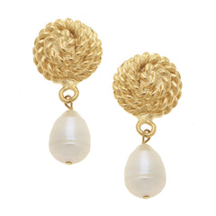 Susan Shaw Pearl Rope Clip On Earrings