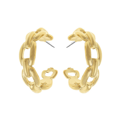 Susan Shaw Mini Chain Hoops
