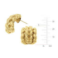 Susan Shaw Small Braided Earrings