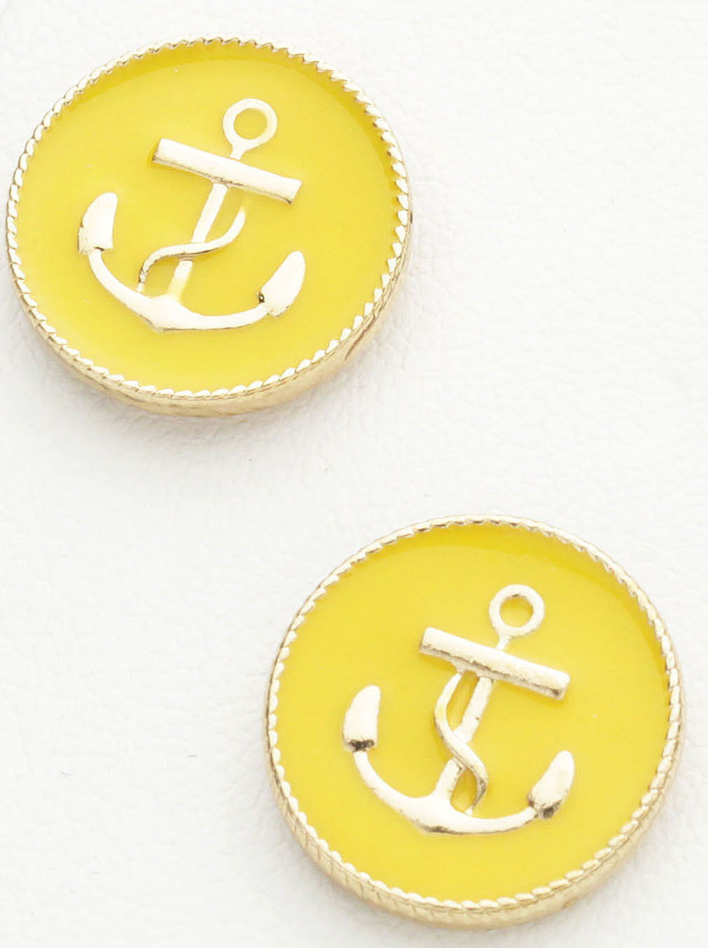 YELLOW ANCHOR STUDS by Jewelry from THE LUCKY KNOT - 2