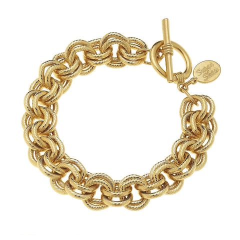 Susan Shaw Handcast Gold Double Link Chain
