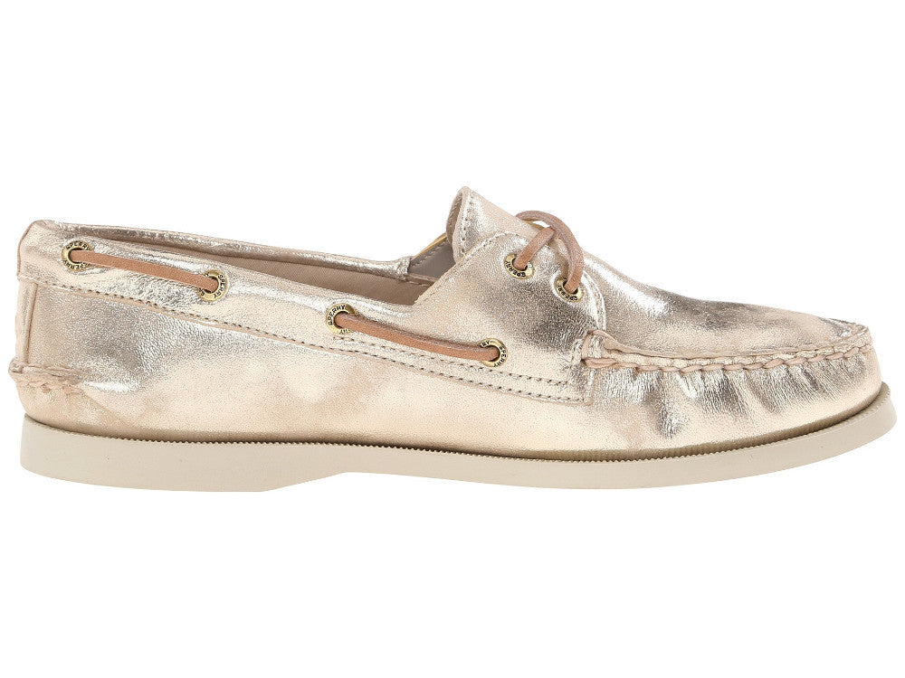 Sperry Women's A/O 2 Eye Metallic Platinum Boat Shoe by Sperry Top-Sider from THE LUCKY KNOT - 2