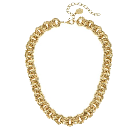 Susan Shaw Handcast Gold Chain Necklace