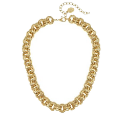Susan Shaw Double Link Chain Necklace