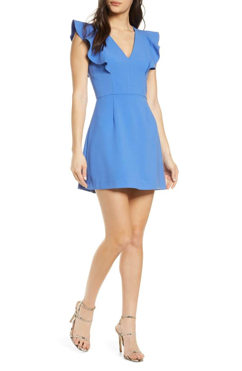 French Connection Cameron Dress - Chalk Blue