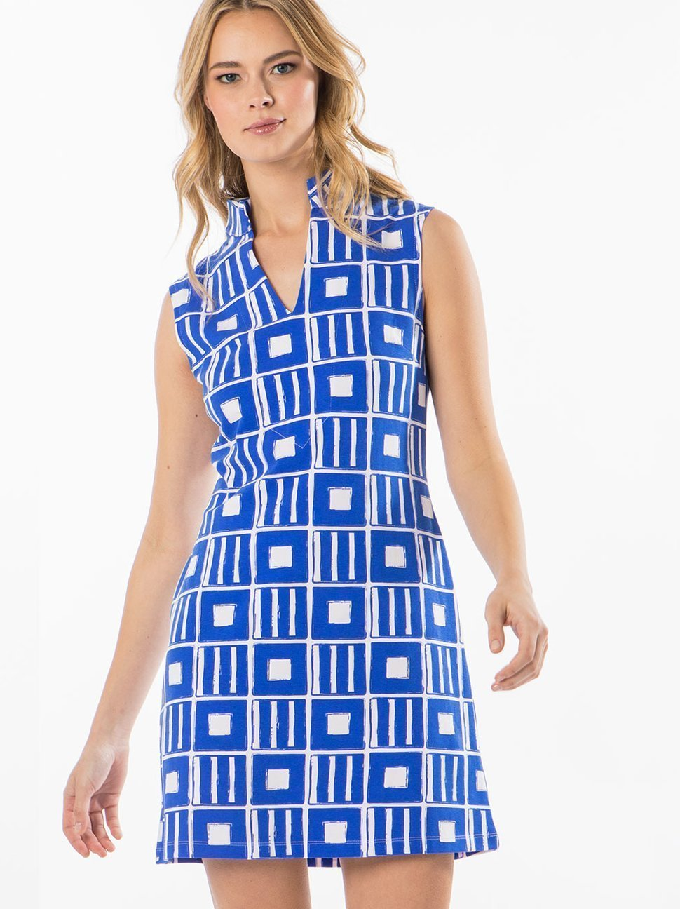 Mahi Gold Sleeveless MAHI Tunic Dress - Penelope - Sailor Blue