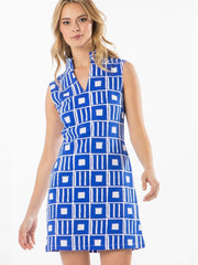 Mahi Gold MAHI Sleeveless Tunic Dress - Penelope - Sailor Blue
