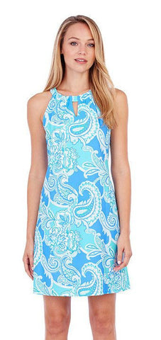 Jude Connally Lisa Paisley Maxi Soft Blue