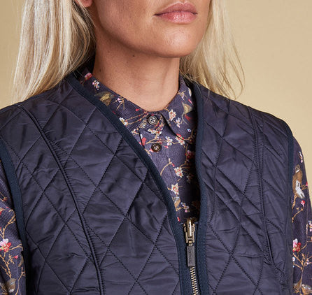 Barbour Fleece Betty Liner Vest - Navy