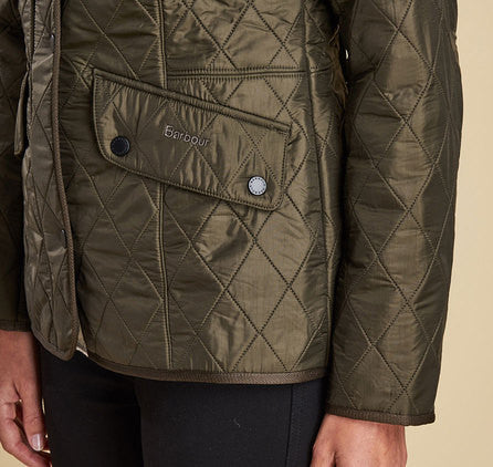 Barbour Cavalry Polarquilt Jacket Dk Olive