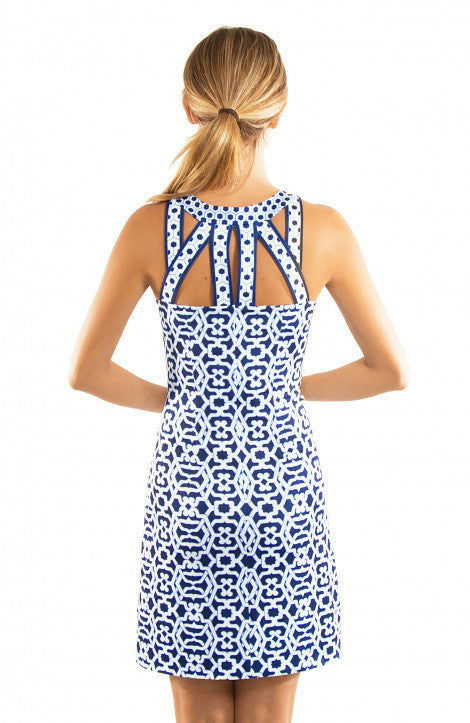 be64bf44eb8 Gretchen Scott Isosceles Jersey Dress - Rio Gio - Blues – THE LUCKY KNOT