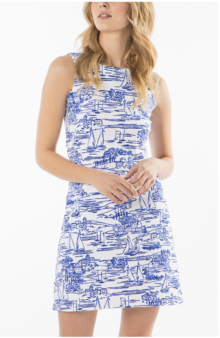 Mahi Gold Ryder Dress - Set Sail - Sailor Blue