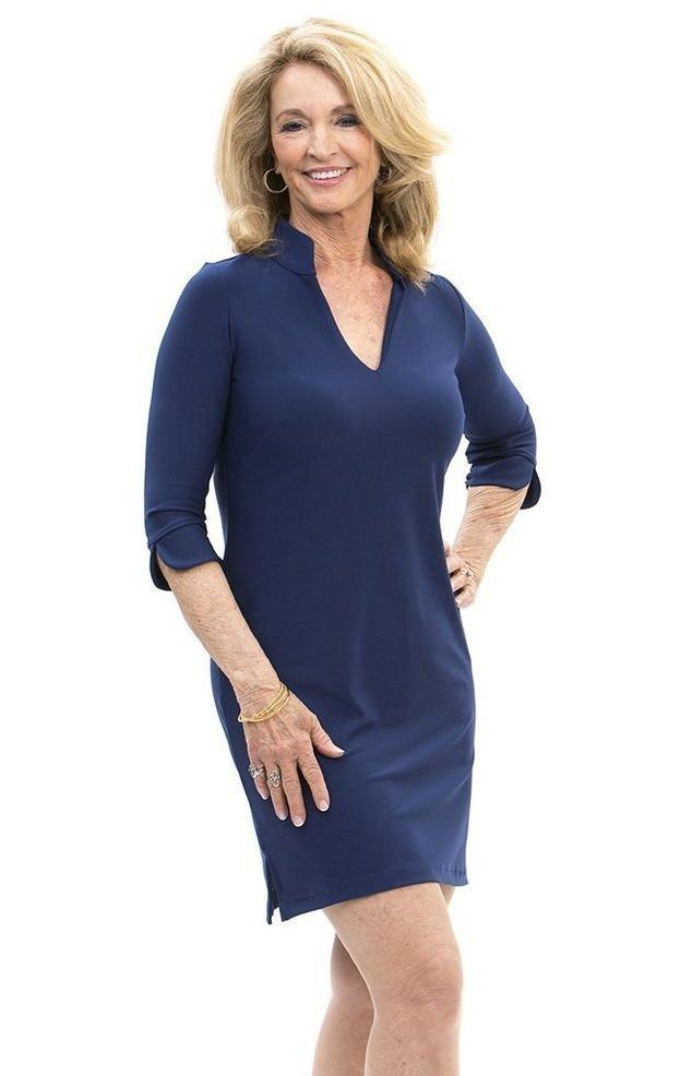 Katherine Way Coco Dress In Navy