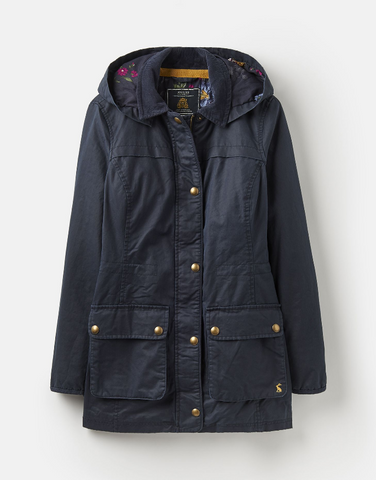 Sale Joules Daubenay Faux Wax Jacket - Marine Navy