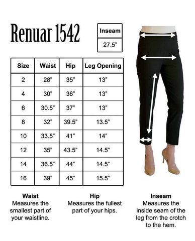 Renuar Ankle Pants Black