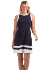 Duffield Lane Caroll Dress - Navy/White