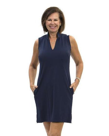Katherine Way Santa Rosa Dress In Navy