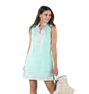 Sail To Sable Sleeveless Classic Cabbage Tunic Dress