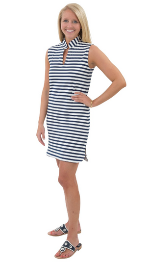 Sailor Sailor Seaport Shift - White/Navy Stripes