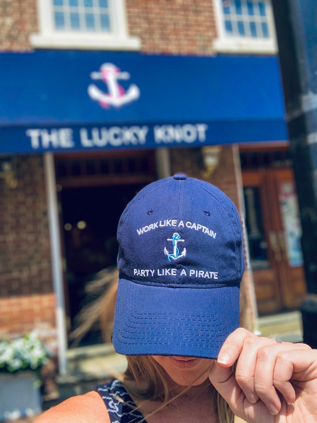 "Lucky Knot ""Work Like A Captain, Party Like A Pirate"" Hat"