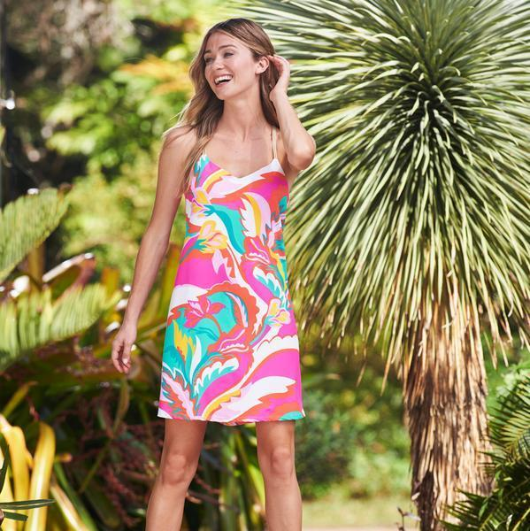 Jude Connally Bailey Dress - Mod Floral Hot Pink