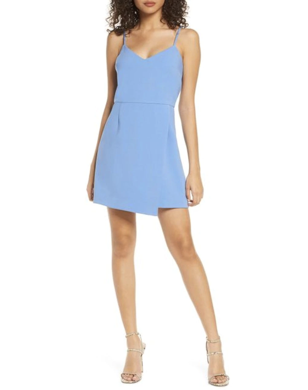 French Connection Demi Dress - Chalk Blue