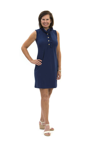 Katherine Way Campeche Dress - Navy