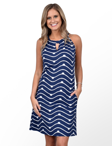 Southwind Apparel Charelston Dress - Navy Knotty
