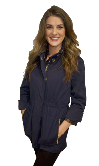 343c3aad Ciao Milano Tess Anorak Jacket in Navy by Ciao Milano from THE LUCKY KNOT -  3