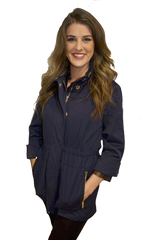 Ciao Milano Tess Anorak Jacket in Navy by Ciao Milano from THE LUCKY KNOT - 3