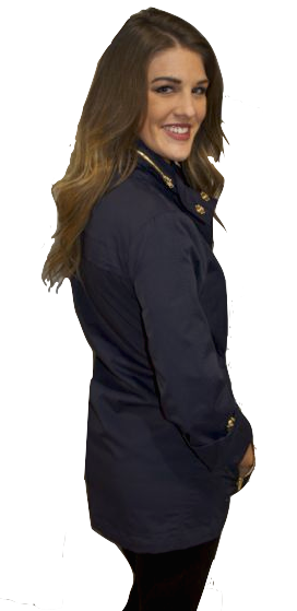 Ciao Milano Tess Anorak Jacket in Navy by Ciao Milano from THE LUCKY KNOT - 4