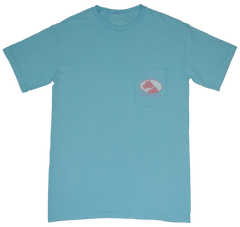 Lucky Knot DPC Shirt -Turquoise & Pink by Dixie Peaches Couture from THE LUCKY KNOT - 2