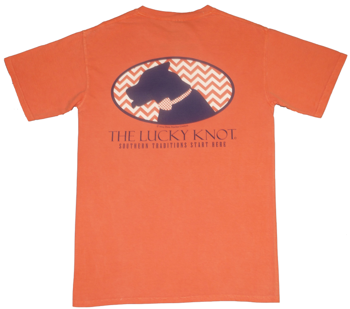 Lucky Knot DPC Shirt - Orange by Dixie Peaches Couture from THE LUCKY KNOT - 1