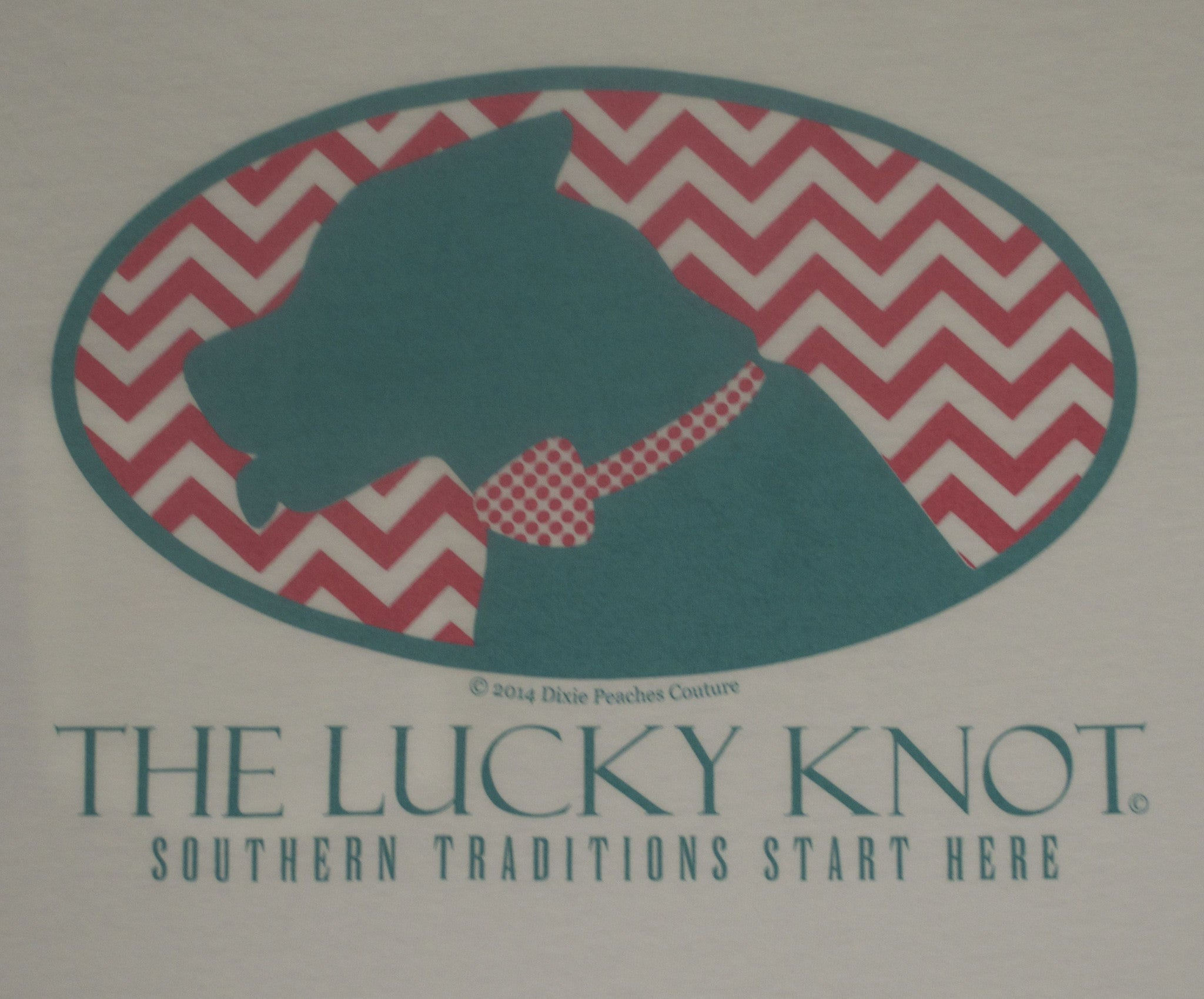 Lucky Knot DPC Shirt - White & Mint by Dixie Peaches Couture from THE LUCKY KNOT - 3