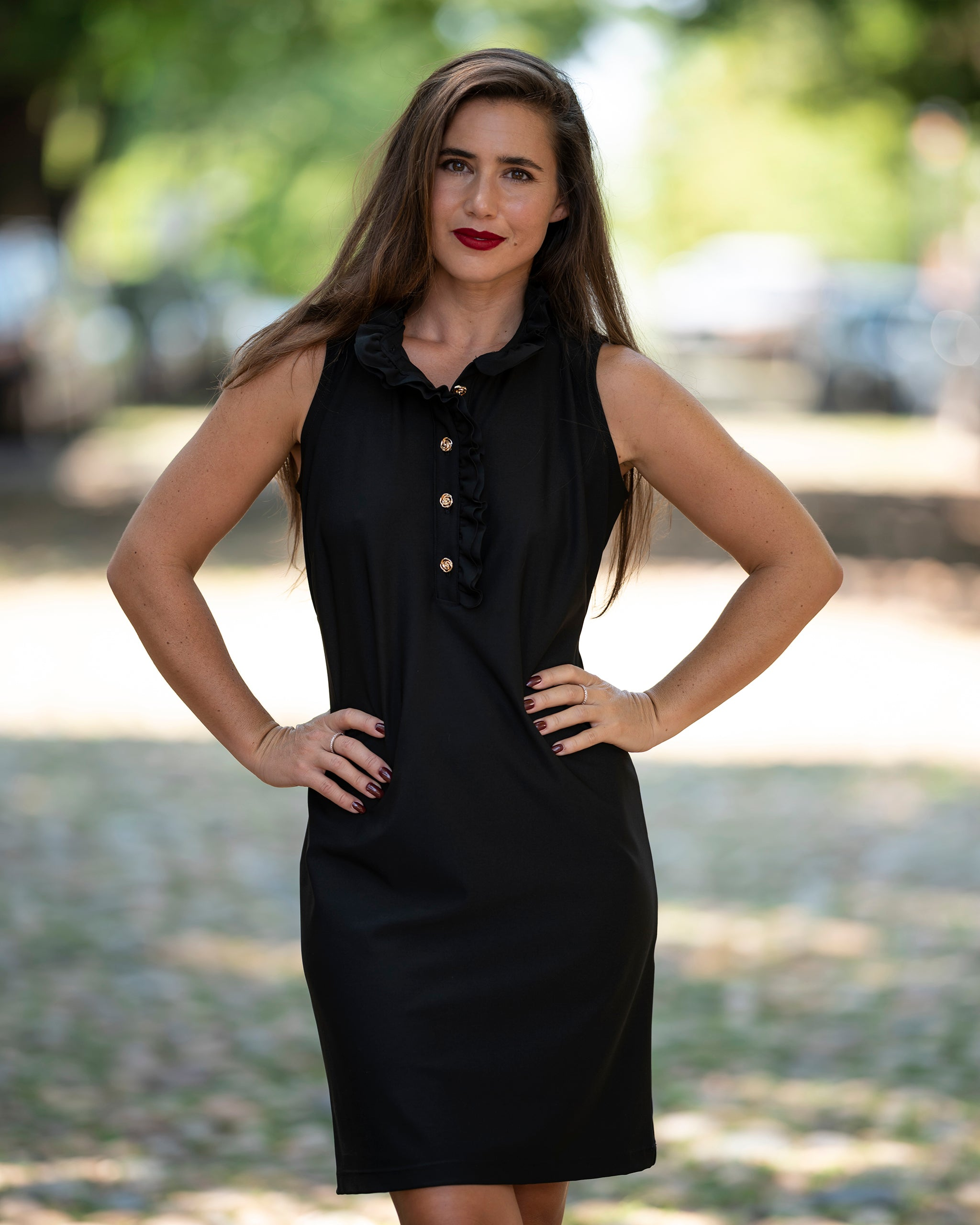 Katherine Way Campeche Dress - Black